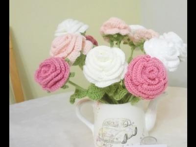 Flor Grande a Crochet Versión (ZURDO)