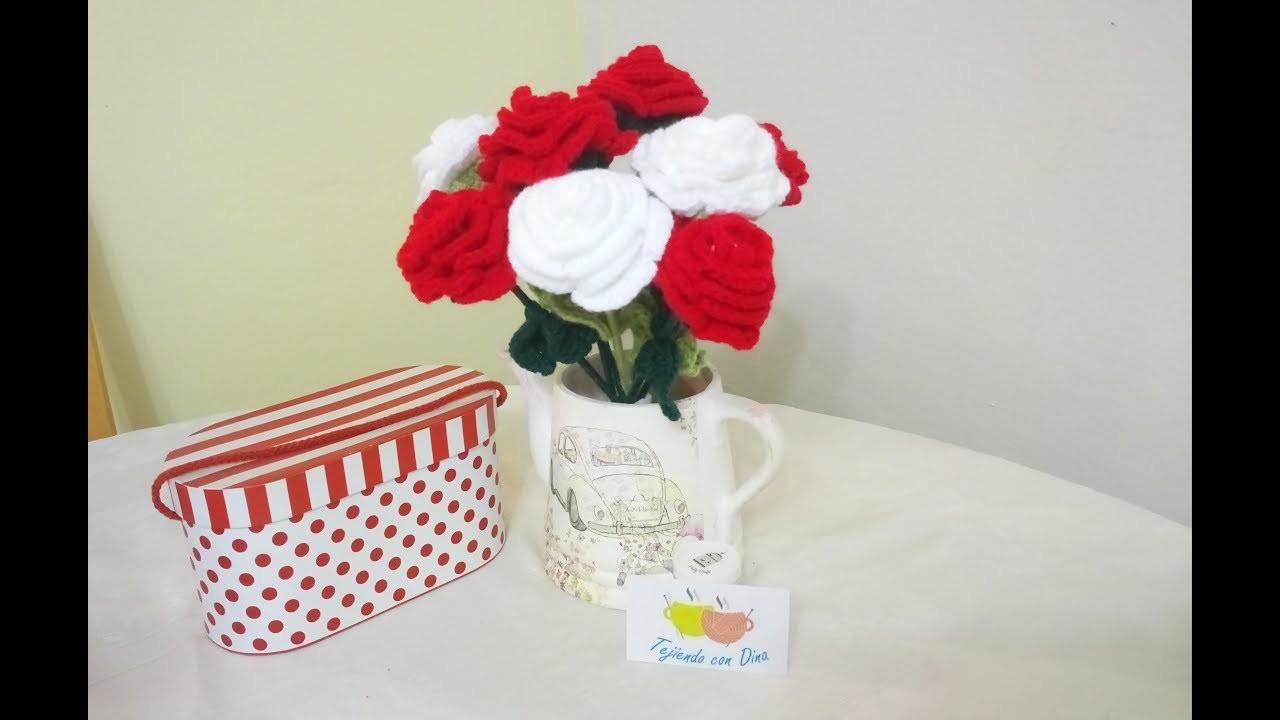 Flor Grande a Crochet Versión (DIESTRO)