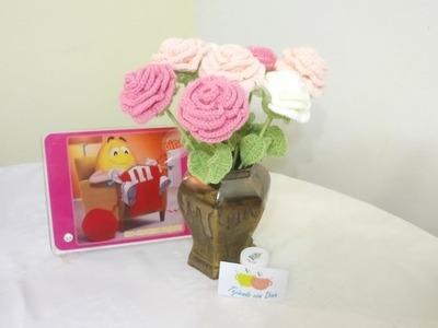 Flor Mediana a Crochet Versión (DIESTRO)