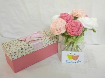 Flor pequeña a Crochet Versión (DIESTRO)