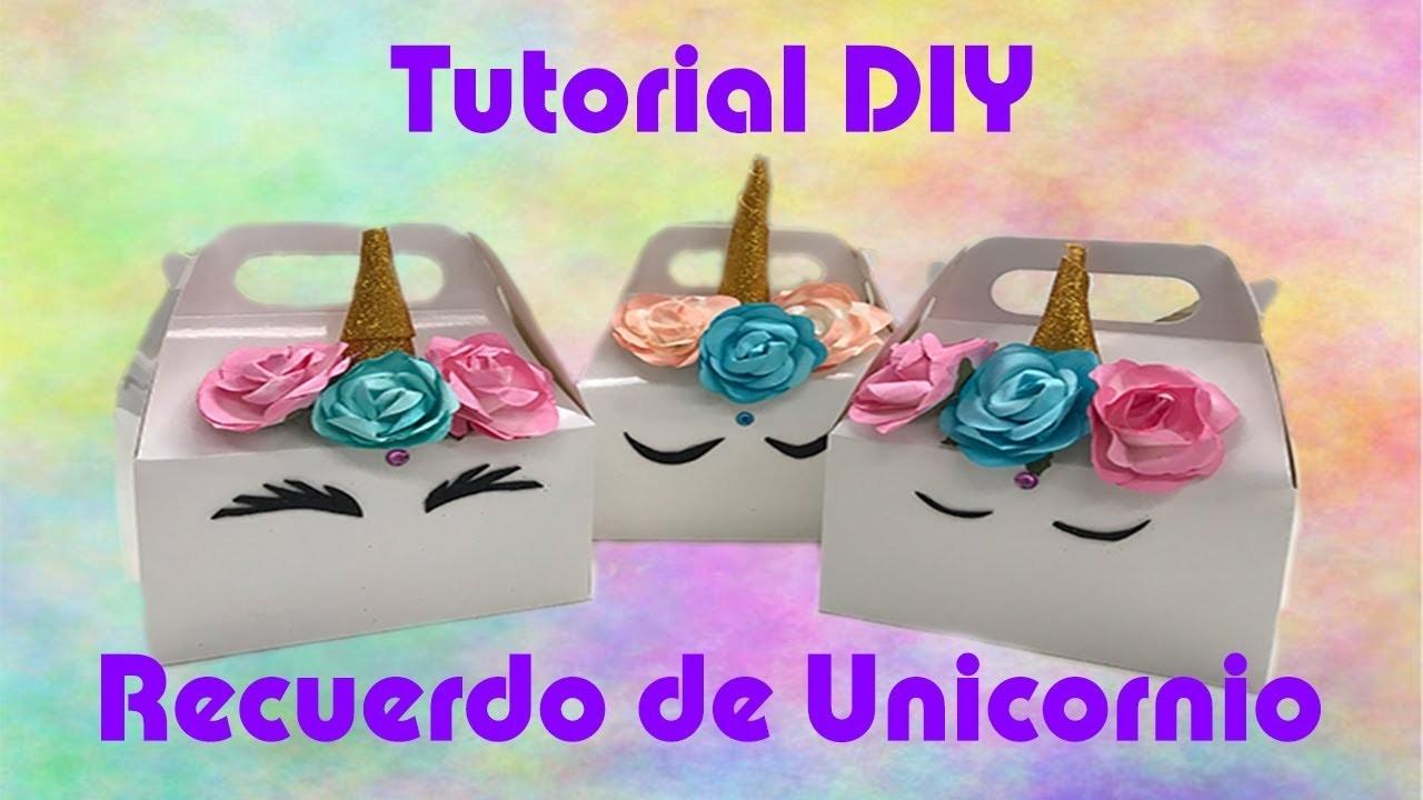 Idea para Recuerdo de Unicornio - #2018-BDF001 - Tutorial DIY