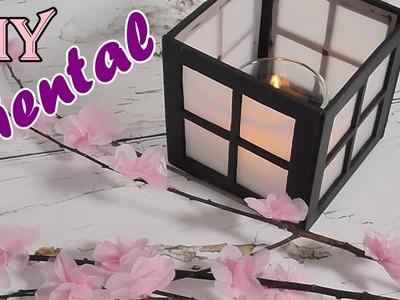 Ideas de decoración oriental. Portavelas y Flor de cerezo