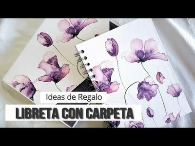 IDEAS PARA REGALAR: CONJUNTO LIBRETA + CARPETA - TUTORIAL | LLUNA NOVA SCRAP