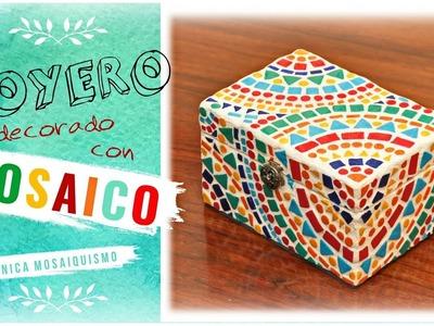 JOYERO CON MOSAICO | paso a paso