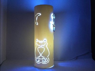 Lámpara de PVC casera Gatos Enamorados