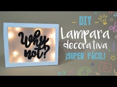 Lampara Decorativa ¡Con una caja! - DIY - PP Arts