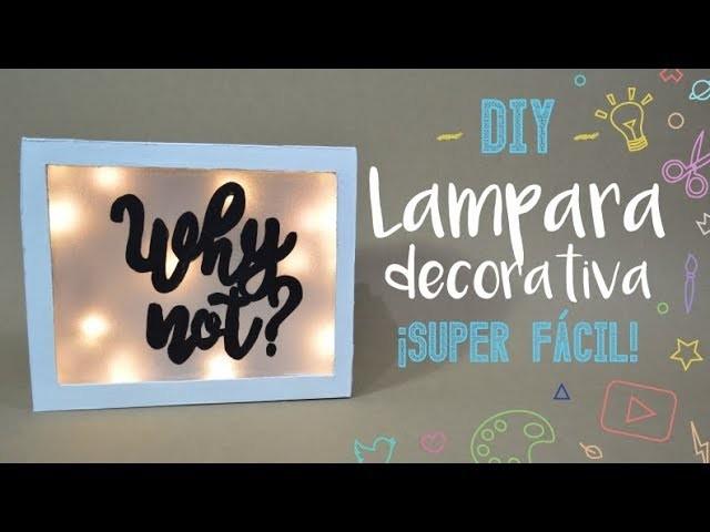 Lampara Decorativa ¡Con una caja! - DIY - PP Arts