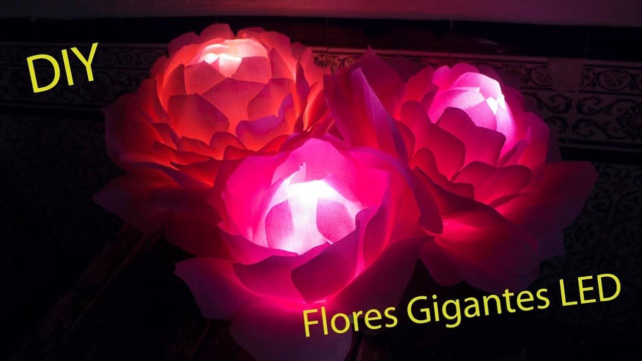 Lámpara flores gigantes LED DIY - Hazlo tú mismo