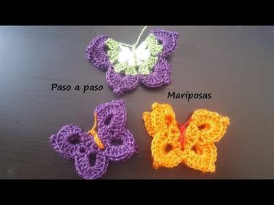 Mariposa a crochet. Paso a paso.
