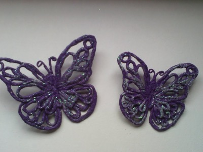 MARIPOSA  hecha con servilleta de papel   butterfly made with paper napkin