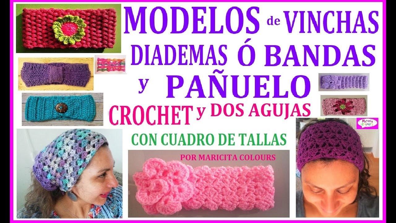 Mis VINCHAS ó  BANDAS -  TALLAS  incluídas Tutoriales por Maricita Colours