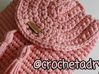 Mochila de trapillo 2. Crochet