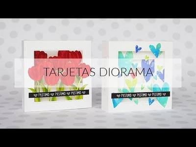 MOLT CRAFT + LA PAREJA CREATIVA: 23.04.2018 Demo tarjetas diorama