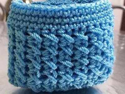 Monedero Tejido a Crochet En Punto Trenzado. La Luna Del Crochet