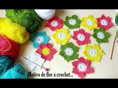 Motivo a crochet de flor