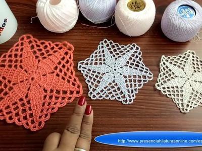 Motivo estrella a crochet para todo tipo de proyectos