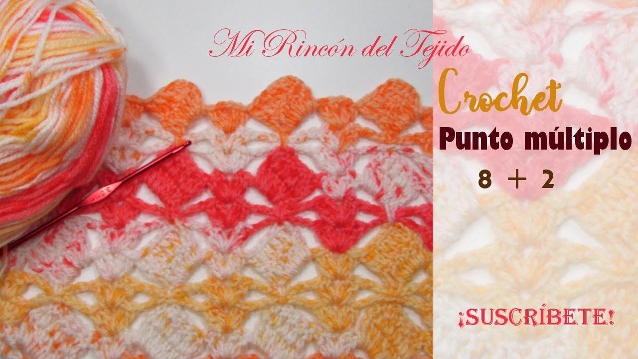 Muestra de punto fantasía tejido a crochet - Mi Rincón del Tejido