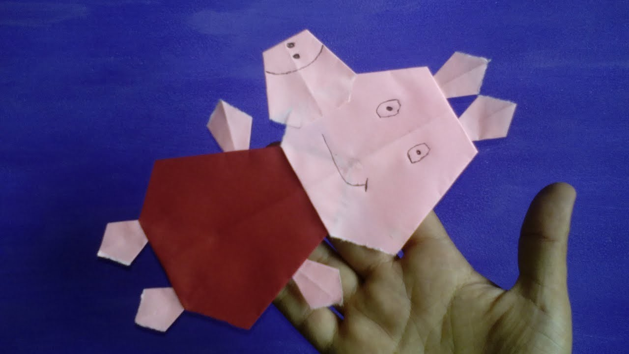 Origami - Peppa Pig de papel