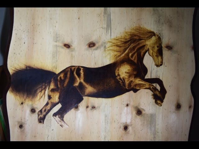Pirograbado en Madera ( caballo ) Parte 4