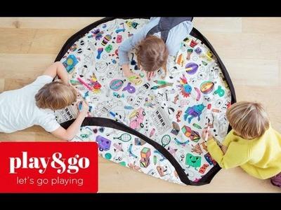 Plan and Go - Bolsa de almacenamiento de juguetes y manta de juegos - Una Mamá Novata