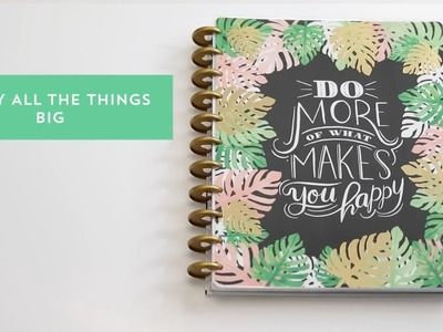 Planner Grande Enjoy All Things - The Happy Planner 2018