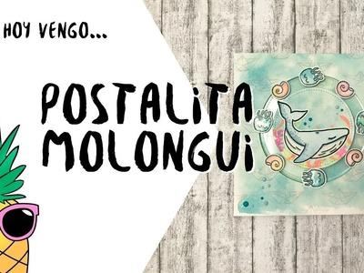 Postal interactiva con sellos Dunaon