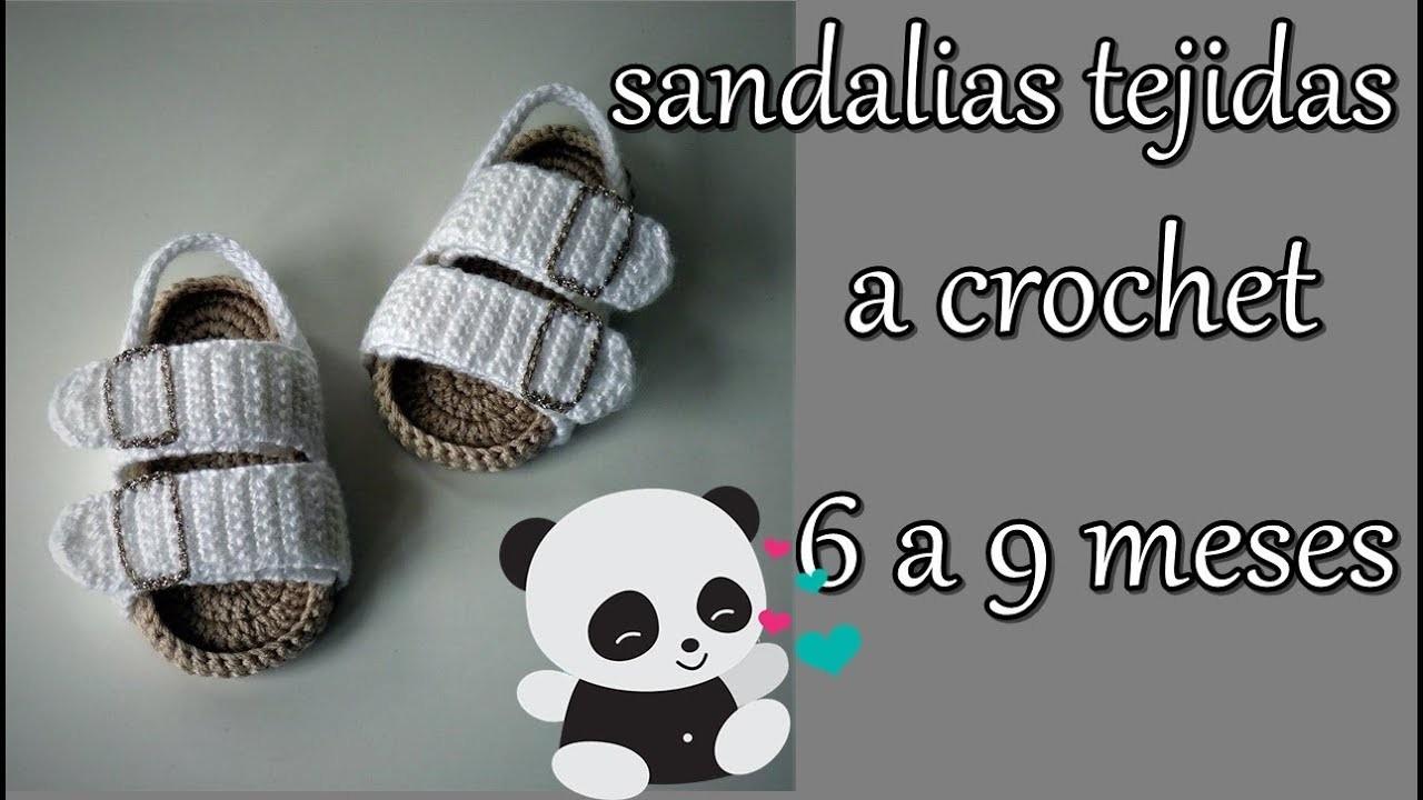 Sandalias de bebé a crochet -6 a 9 meses -bebe-