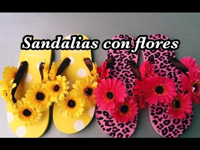 Sandalias de Flores decorado fácil