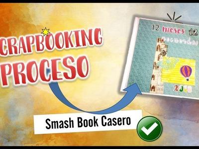 Scrapbooking Proceso. SmashBook Casero.Página de Marzo 2018