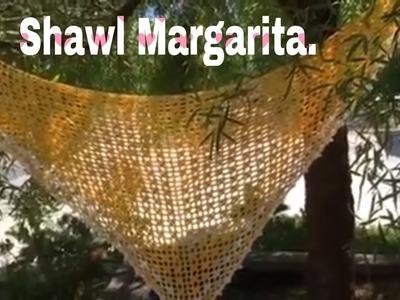 Shawl Margarita. En crochet.