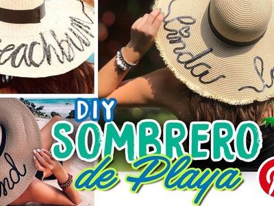SOMBRERO AL ESTILO PINTEREST | DIY DE VERANO | LINDA LOVE