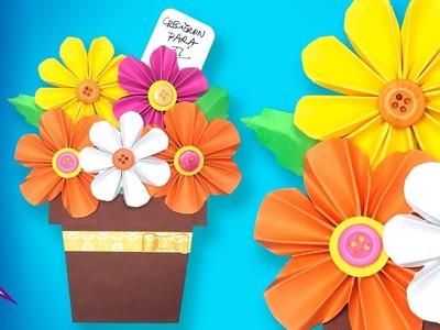Tarjeta Maceta de flores DIY
