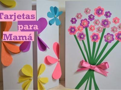 Tarjetas para mamá - Fáciles - Tutorial - DIY - AnabelMonGar