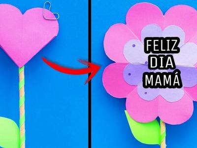 Tarjetas pop up de Flores _ DIY regalos para mamá fáciles y rápidos. CADUBANA