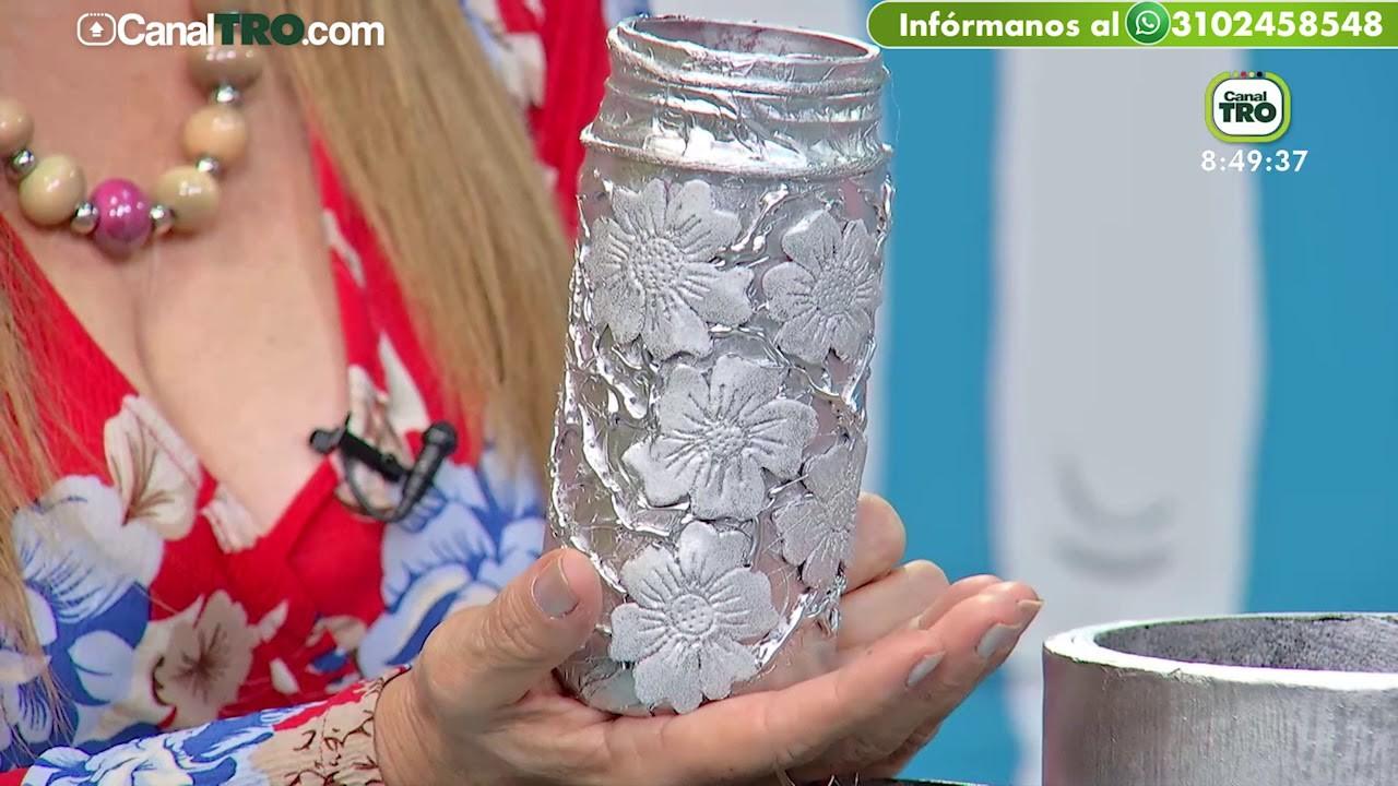 Tarros decorativos en material reciclable - Hecho Con Estilo