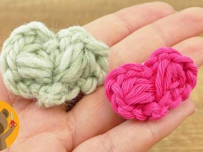Tejer un mini corazón tutorial sencillo   Tierna decoración o idea de regalo hazlo tú mismo