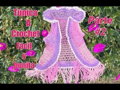 Tunica tejida a ganchillo facil y bonita parte (#2)Tejiendo Con Erica.!!