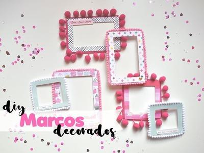 Tutorial adornos caseros - marcos decorados | DIY embellishment | Scrapeando con Rocío