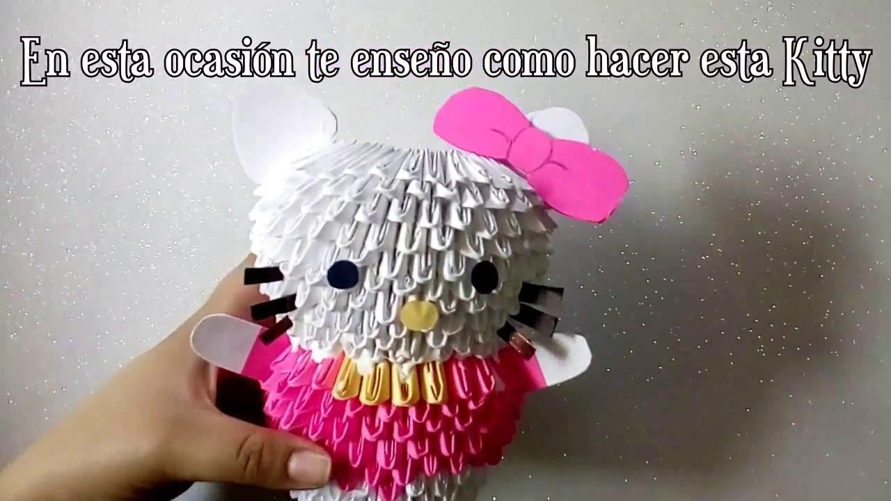 Tutorial Kitty Lapicero Origami 3D