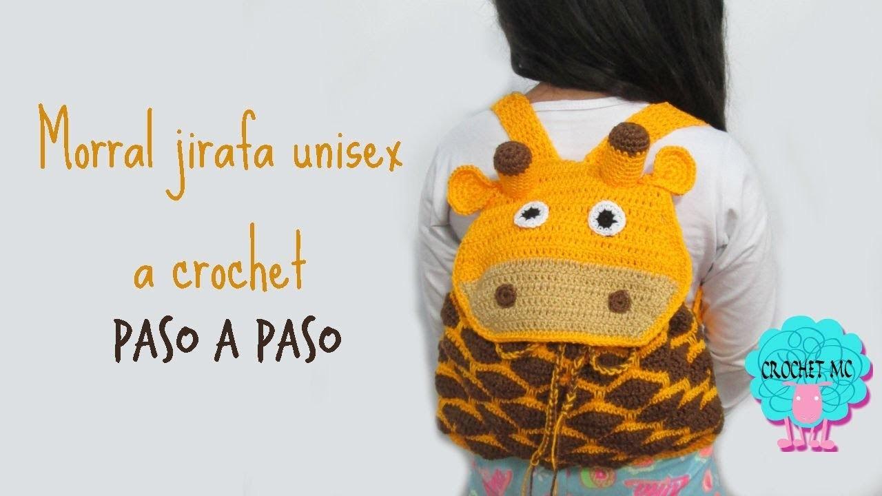Tutorial morral para niños a crochet- jirafa