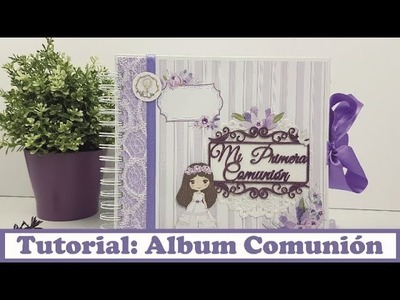 Tutorial Scrapbooking: Album Comunión con Kora Projects