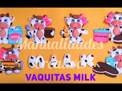 Vaquitas Milk paso a paso - Craft DIY manualidad en foamy.goma eva.microporoso