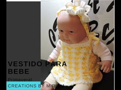 Vestidito  para Bebe primaveral