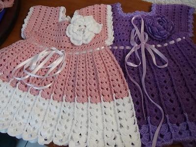 Vestido a crochet, talla de 1 a 2 años