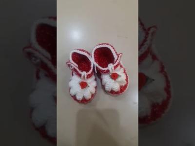 Zapatitos Tejidos a Crochet para Bebe.