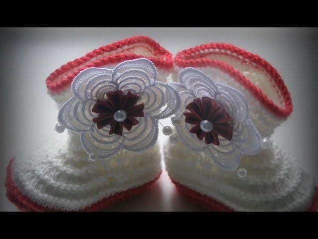 Zapatos para bebe a crochet
