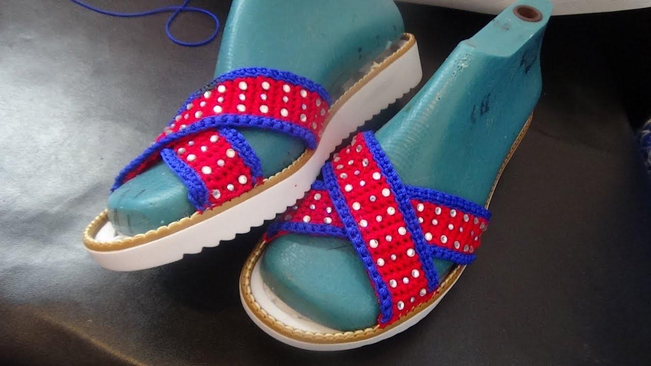 Zapatos tejidos a Crochet. mod Tommy