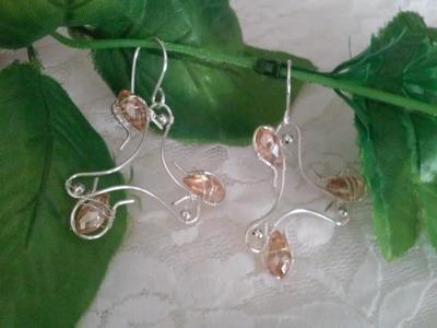 Zarcillos zarcillo  aretes de moda aretes de bisuteria aros artesanales como hacer aretes de moda