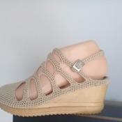 Sandalia tejida