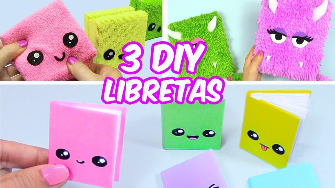 3 IDEAS DIY LIBRETAS PARA LA ESCUELA!